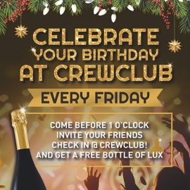 Celebrate your birthday @CrewClub!