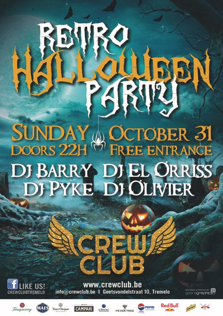 Retro Halloween affiche